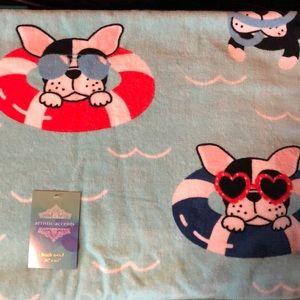 Boston Terrier French Bulldog Beach Towel